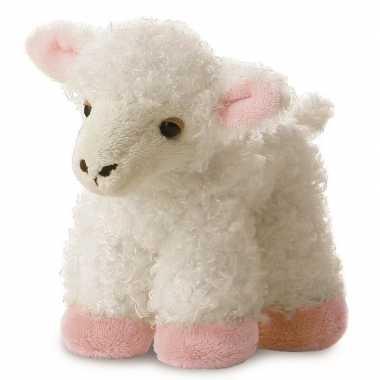Pluche witte schaap/lam knuffel 20 cm speelgoed
