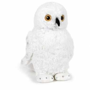 Pluche witte sneeuwuil knuffel 33 cm speelgoed