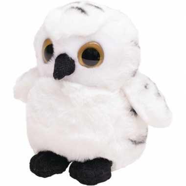 8795f77488e34f Pluche witte sneeuwuil knuffel vogel 13 cm speelgoed | Knuffel.info