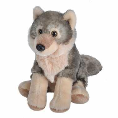 Pluche wolf knuffel 20 cm