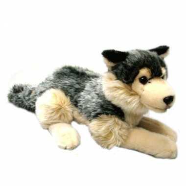 Pluche wolf knuffel 30 cm
