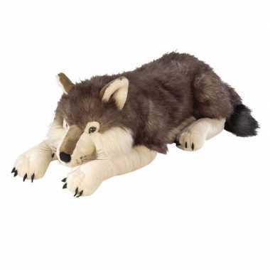 Pluche wolf knuffel 76 cm