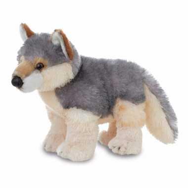 Pluche wolven knuffel 30 cm