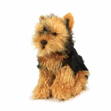 Pluche yorkshire terrier honden knuffel van 26 cm