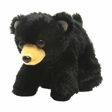 Pluche zwarte beer/beren knuffel 18 cm speelgoed