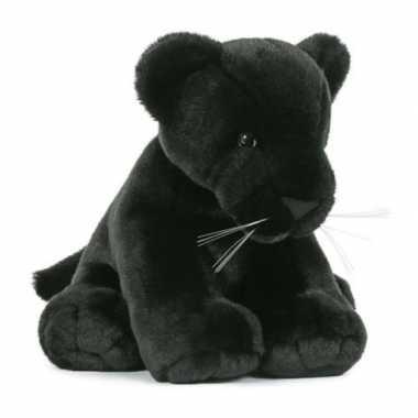 Pluche zwarte panter knuffel 30 cm speelgoed