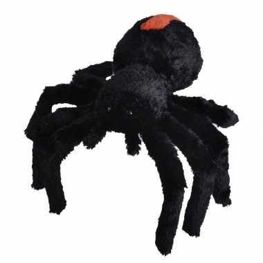 Pluche zwarte roodrugspin/spinnen knuffel 35 cm speelgoed