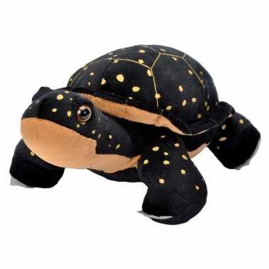 Pluche zwarte schildpadden knuffel 30 cm