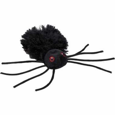 Pluche zwarte spin knuffel 13 cm