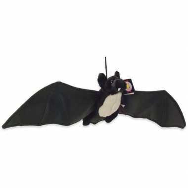 Pluche zwarte vleermuis/vleermuizen knuffel 22 cm speelgoed