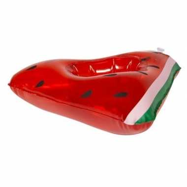 Poppen/knuffel opblaas zwemband watermeloen 19 cm