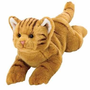 Rode poezen/katten pluche knuffel van 32 cm