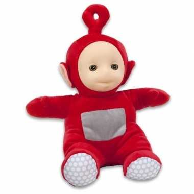 Rode teletubbie po knuffel/pop 26 cm