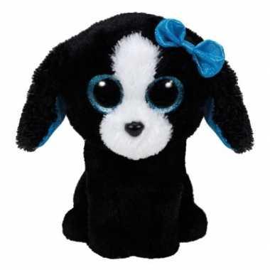 Ty beanie boo's pluche hond knuffel zwart 15 cm