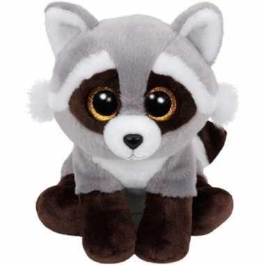 Wasbeer ty beanie knuffel bandit 24 cm