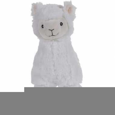 Witte pluche alpaca/lama knuffel 30 cm