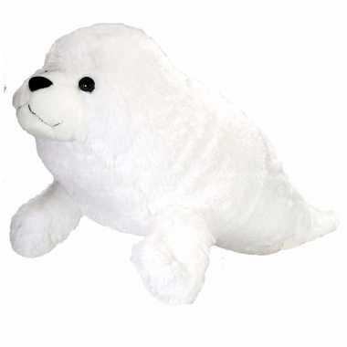 Witte pluche zeehond knuffel 76 cm