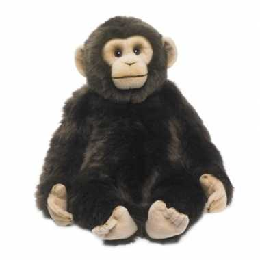 Wnf pluche chimpansee apen knuffel van 39 cm
