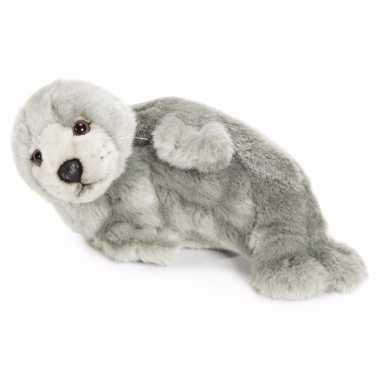 Wnf pluche grijze zeehonden knuffel 24 cm