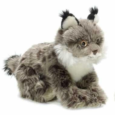 Wnf pluche lynx knuffel grijs 23 cm