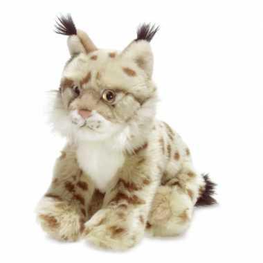 Wnf pluche lynx knuffel wit 23 cm