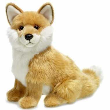 Wnf pluche vos knuffel zittend 25 cm