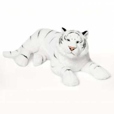 Wnf pluche witte tijger knuffel 81 cm