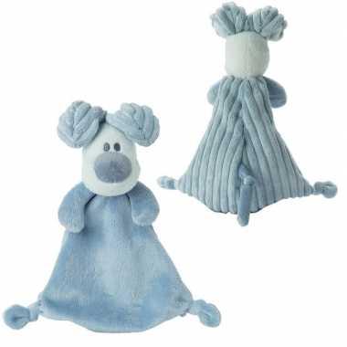Woezel en pip knuffeldoekje tutteldoekje blauw woezel 30 cm