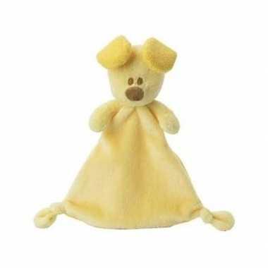 Woezel en pip knuffeldoekje/tutteldoekje geel pip 30 cm