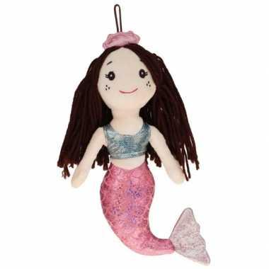 Zachte zeemeermin knuffel pop 25 cm speelgoed