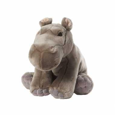 Zittende nijlpaard knuffel 22 cm