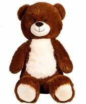 Bruine pluche teddybeer beren dieren knuffel 80 cm