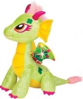 Groen gele draak knuffel twinkle lucky 25 cm