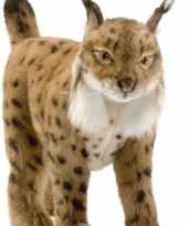 Hansa pluche knuffel lynx bruin 35 cm