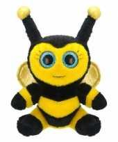 Pluche bijen knuffel 22 cm