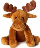 Pluche bruine eland knuffel 20 cm speelgoed