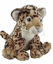 Pluche bruine jaguar luipaard knuffel 30 cm speelgoed