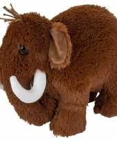 Pluche bruine mammoet knuffel 36 cm speelgoed