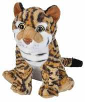 Pluche bruine ocelot pardelkatten knuffel 35 cm speelgoed