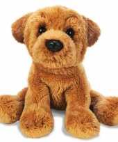 Pluche bruine sharpei honden knuffel 13 cm speelgoed