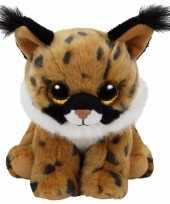 Pluche knuffel lynx ty beanie larry 33 cm