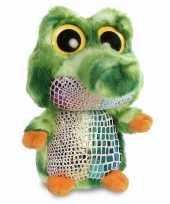 Pluche krokodil knuffel 20 cm
