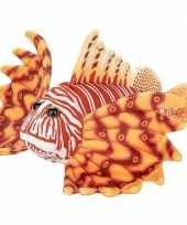 Pluche oranje koraalduivel vissen knuffel 21 cm speelgoed