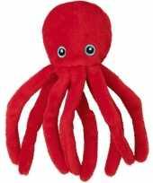Pluche rode octopus inktvis knuffel 12 cm speelgoed