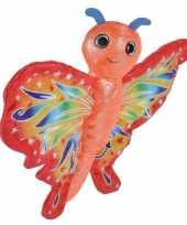 Pluche rode vlinder knuffel 20 cm speelgoed