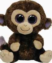 Pluche ty beanie bruine aap apen knuffel coconut 24 cm speelgoed
