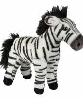 Pluche zwart witte zebra knuffel 28 cm speelgoed